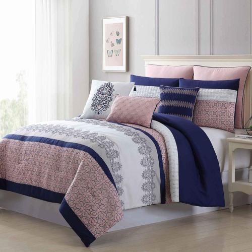 8 piece embroidered serina comforter set king