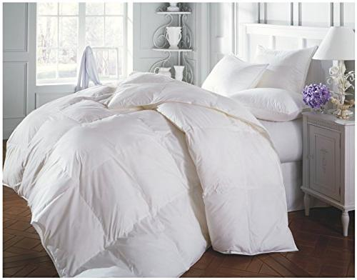 Superior Solid White Alternative Medium Weight for Season, Fluffy, & King