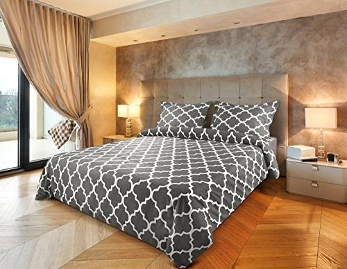Utopia Bedding Printed Cover - Quality Brushed Microfiber Durable Wrinkle, and Stain Machine Washable