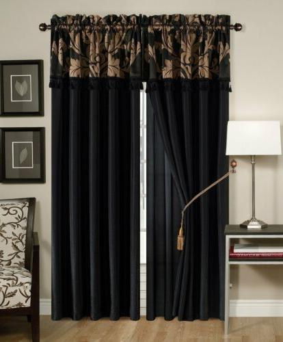Black And Set Damask King Size In A Jacquard
