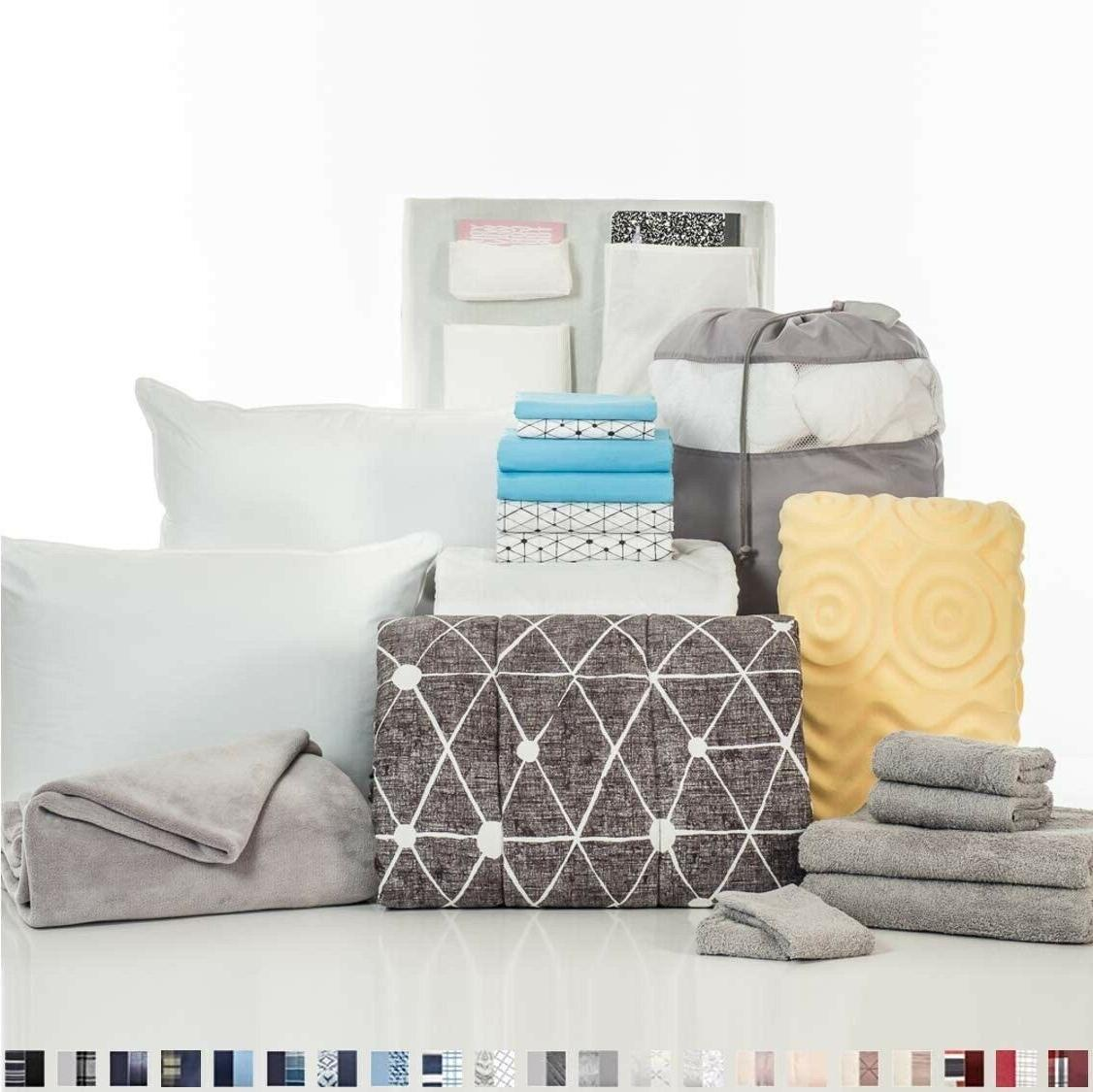 college dorm 20 piece comfort collection twin