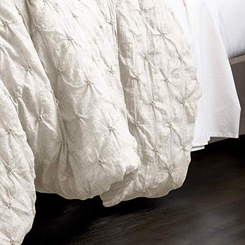 Lush Décor Ravello Shabby Chic White 5 Piece Comforter with Pillow Shams King Comforter