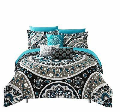 Chic Home Gaston Piece Reversible in a Bag Comforter Set Black