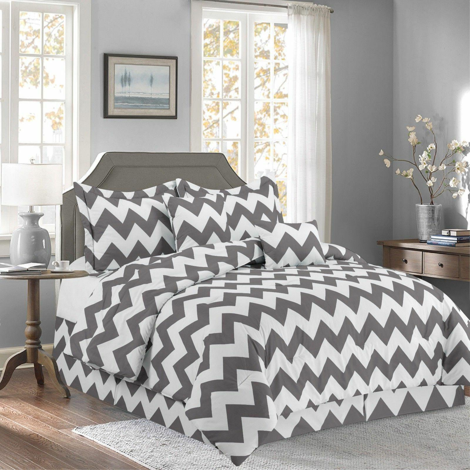 gray 10 piece bed in a bag