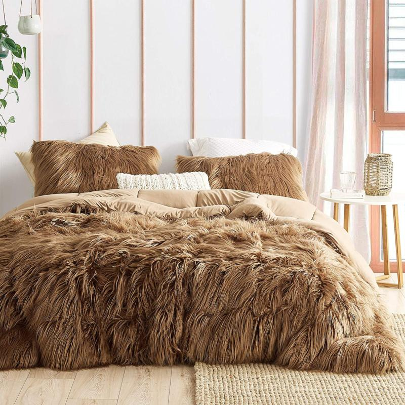 grizzly bear coma inducer queen comforter toasted