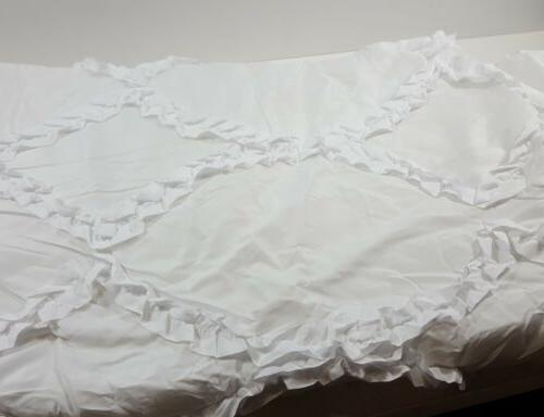 Lush Decor Comforter Ruffled 3 with Pillow Queen -