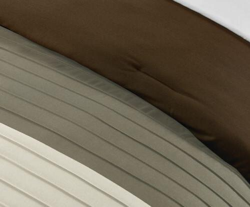 Chezmoi Collection Luxury Striped Pleated Comforter