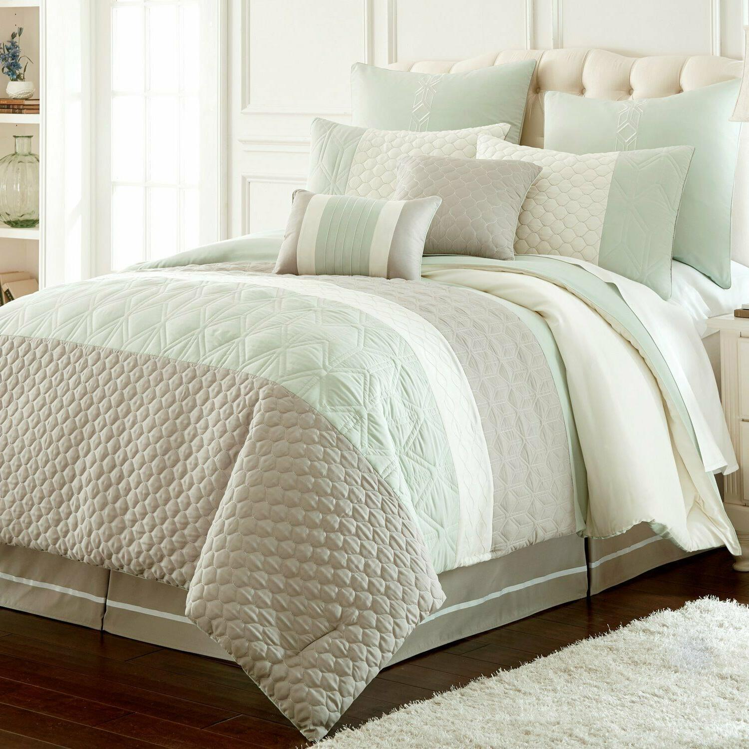 overseas palisades embroidered comforter set