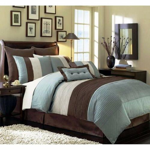 """8pc White """"REMOVABLE Comforter"""