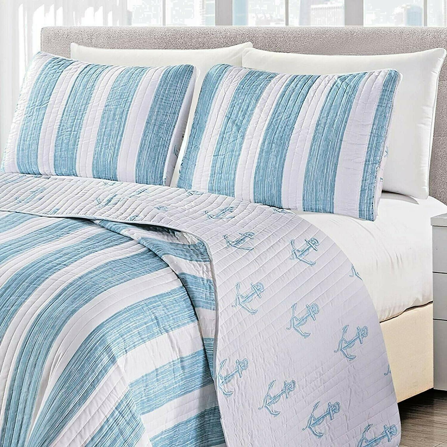 Coastal Queen Beach Theme Comforter Bed