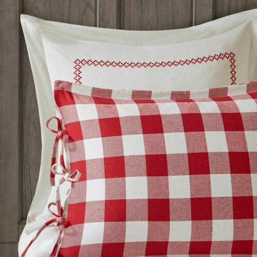 Red Plaid Pattern Reversible Set AND