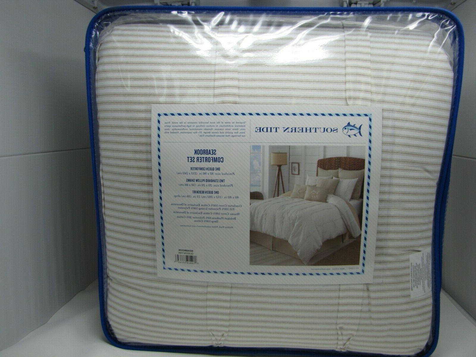 SOUTHERN SEABROOK WHITE 4 COMFORTER