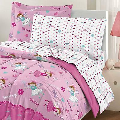Twin Size Comforter 5 Girls in a Bedding Princess