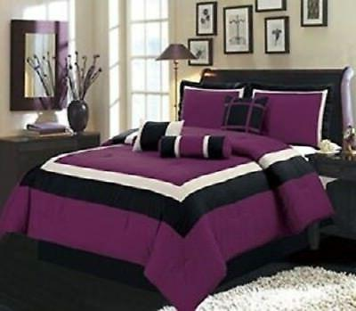 Ultra Soft 7 Pieces Comforter Set Bed In A Bag Hotel Quality