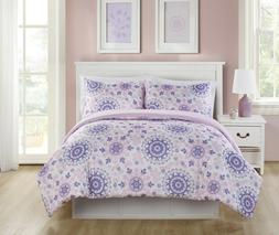 Lavender Floral Pretty Dreamer Medallion 2 Pc. Bedding Comfo