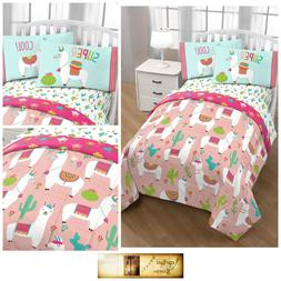 Llama Bedding Sets For Girls Twin Size Comforter Sheets Kids