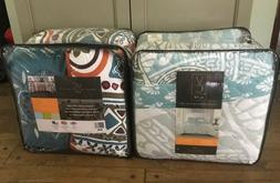 Lot of 2 Comforter Sets - 5 Piece Quilt Sets for King Size B