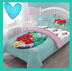 Mermaid Ariel 3/4pc Comforter Set Twin or Full Girls Disney