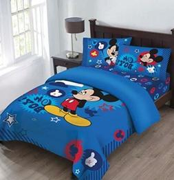 Disney Mickey Oh Boy! Gosh Licensed Twin Comforter Set w/Fit