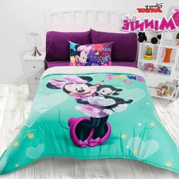 MINNIE MOUSE GIRLS DISNEY ORIGINAL LICENSED COMFORTER WITH S