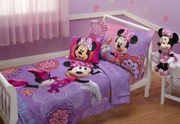 Disney Minnie Mouse Toddler Bed Set 4 Piece Fluttery Comfort