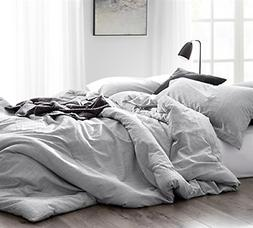 Byourbed Natural Loft King Comforter - Yarn Dyed Gray