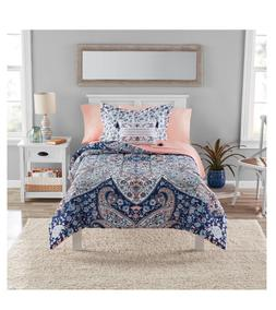 New Girl's Twin Twin XL Size Comforter Set Peach Sheets Meda