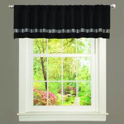 night sky black grey valance