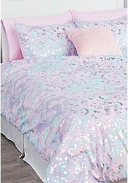 NWT Justice Girls Paint Splatter Comforter Set Size Full Que