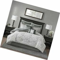 Madison Park Odette 8 Piece Jacquard Bedding Comforter Set w