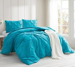 Byourbed Peacock Blue Pin Tuck Twin XL Comforter