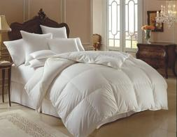 %100 COTTON GOOSE DOWN DOUBLE FILLED COMFORTER KING QUEEN FU