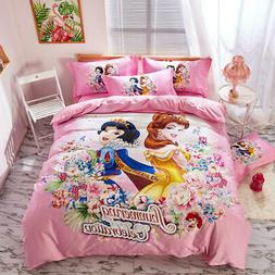 Pink Disney Princess Bedding Set Twin Size Bedspread Queen C