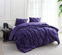 Byourbed Purple Reign Pin Tuck Twin XL Comforter