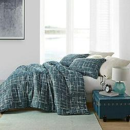 Restive Teal Blues Comforter - 100% Yarn Dyed Cotton