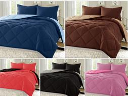 Reversible Comforter Set Down Alternative 1-pc Bed Cover Sup
