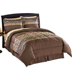 Santa Fe Microfiber Comforter Set With Bedskirt, by Collecti