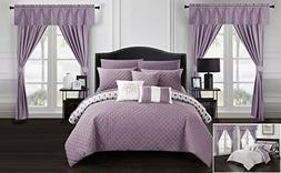 Chic Home Sigal 20 Piece Comforter Set Reversible Geometric