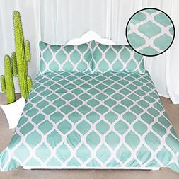 ARIGHTEX Spa Blue Printed Comforter Cover Stylish Lattice Pa