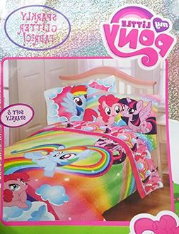 My Little Pony Twin Sized 4 Piece Bedding Set - Comforter an