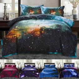 Twin/Full Galaxies Comforter Set All-season Down Quilted Duv