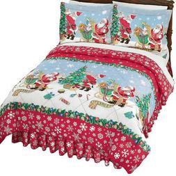 Vintage Santa Christmas Comforter Set, by Collections Etc