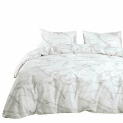 Wake In Cloud - Marble Comforter Set, 100% Cotton Fabric wit