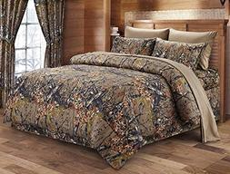The Woods Queen Natural 7 Piece Bedding Set Comforter and Sh