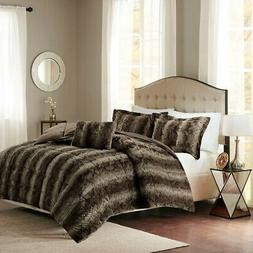 Madison Park Zuri King Size Bed Comforter Set - Chocolate, A
