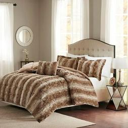 Madison Park Zuri Full/Queen Size Bed Comforter Set - Tan, A